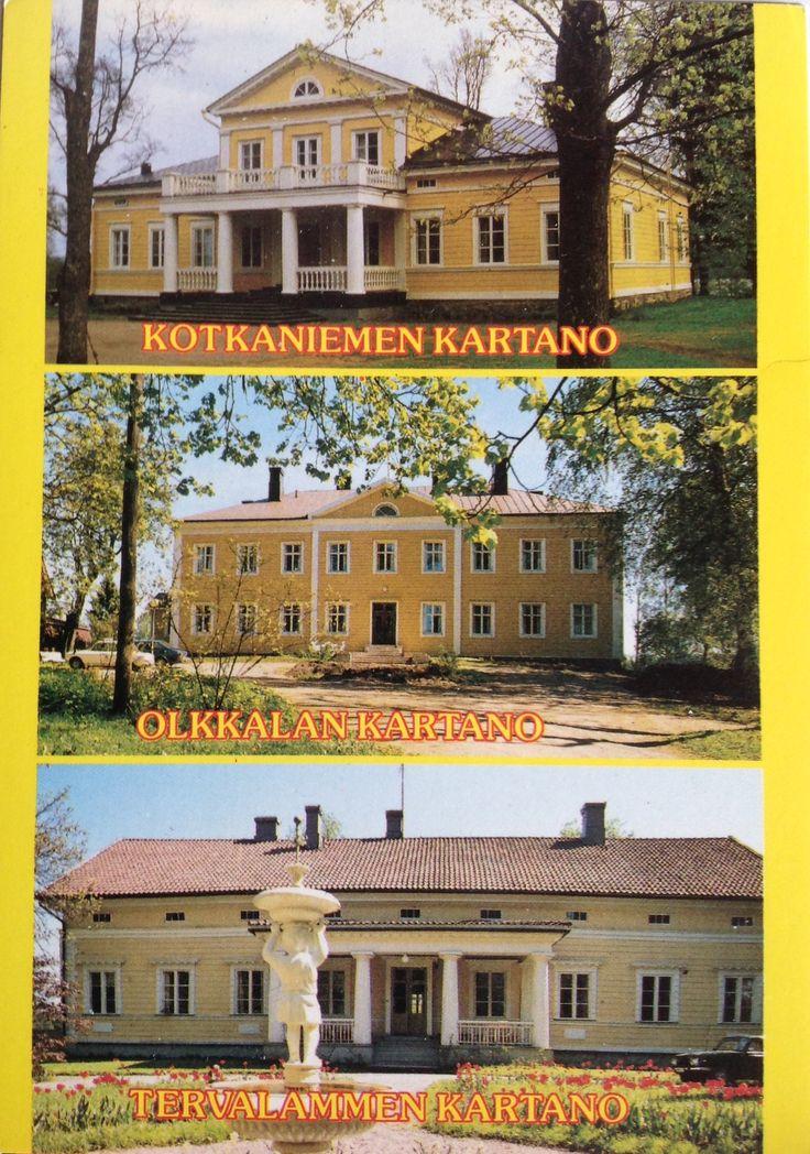 Kartanoita VIHTI FINLAND 1. Kotkaniemen kartano 2. Olkkalan kartano 3. Tervalammen kartano