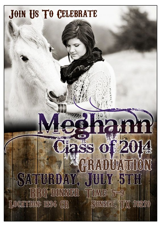 8 best graduation invitations images on pinterest graduation rustic graduation country western senior invite by sparksarts filmwisefo