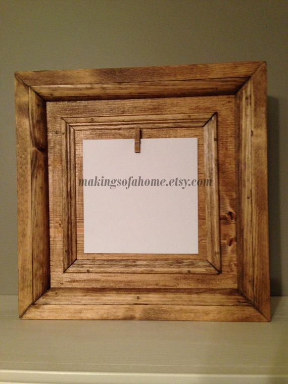 wood picture frame - clip in photos