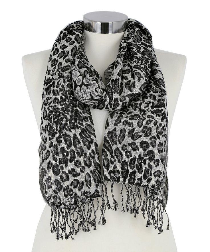 big buddha black ivory metallic animal scarf animals