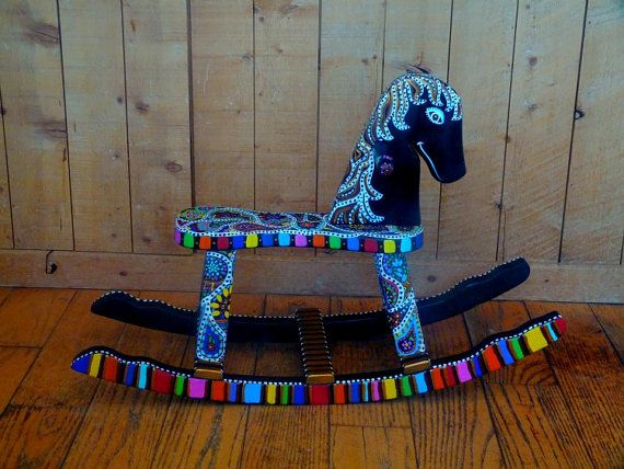 Hand-painted rocking horse - gorgeous