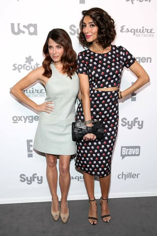 Alanna Ubach and Necar Zadegan @ NBCU cable upfront 2015