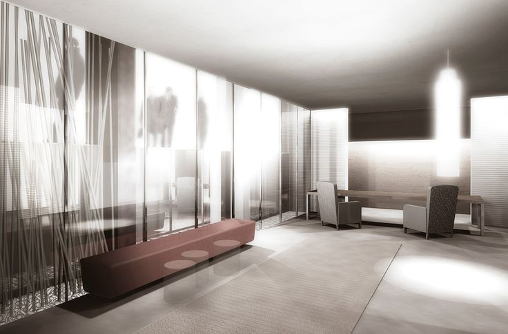 This Render is to shows interior of ''Anderson Hotel'' for competition in Milan which ''Starhotels'' got the first prize. #1st #Prize #Interior #Render #Armchair #Couch #Round #Table #Hotel #Wood #Windows #Lights #Architecture #Desing #Render #3D #Carpet #Gray #ClaretRed #ClaudioNardi #ClaudioNardiArchitects