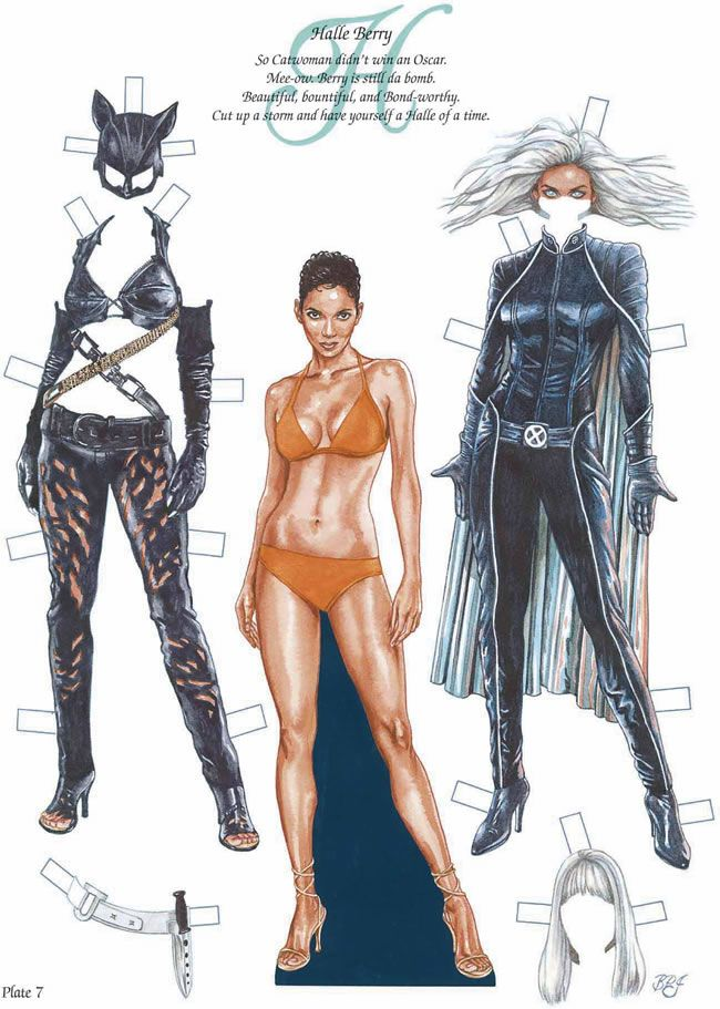 """Halle Berry paper doll (""""Mee-ow. Berry is still da bomb."""")"""