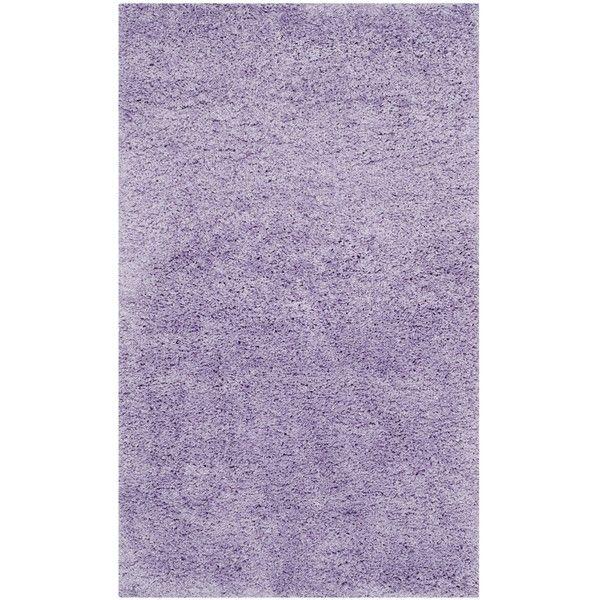 safavieh california cozy solid lilac shag rug 64 liked on polyvore featuring home rugs purple turkish rug shag rug plush area rugs loomeu2026