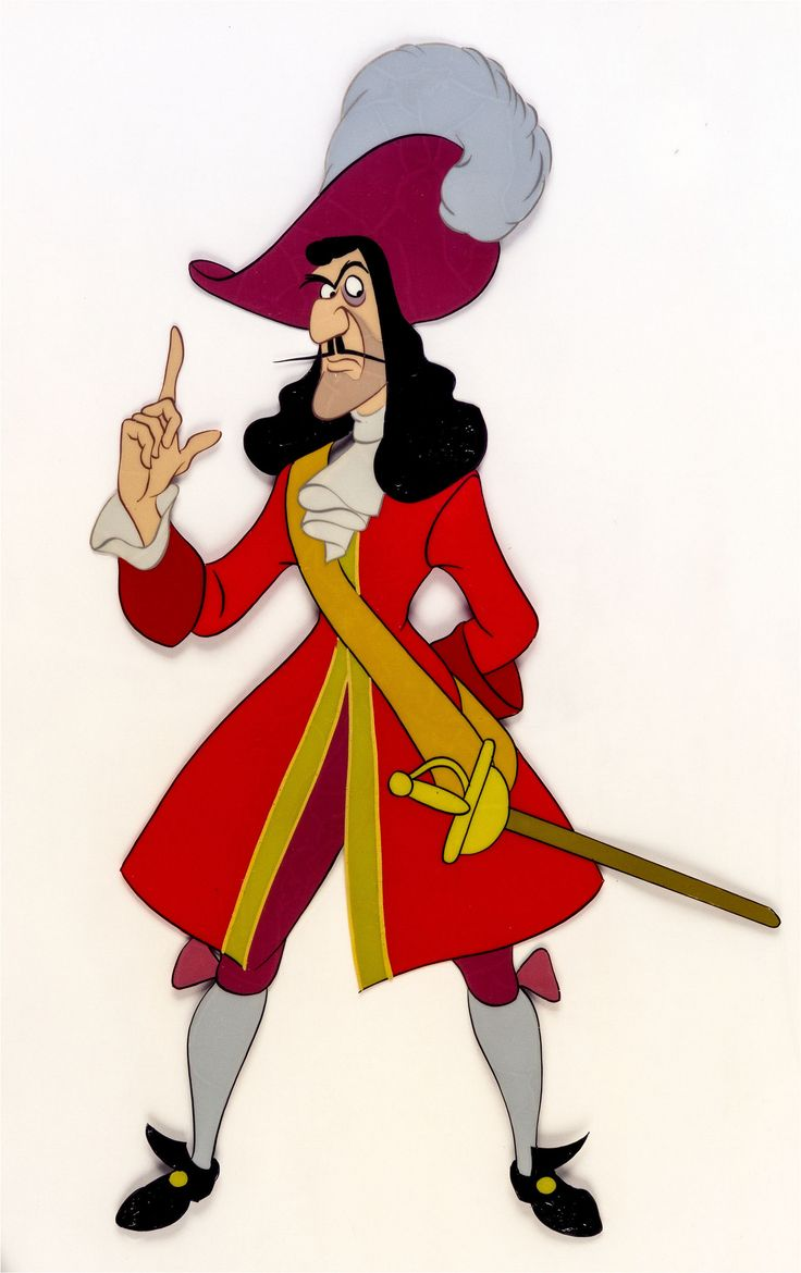 Captain Hook color model cel for Peter Pan (1953) | Flickr - Photo Sharing!