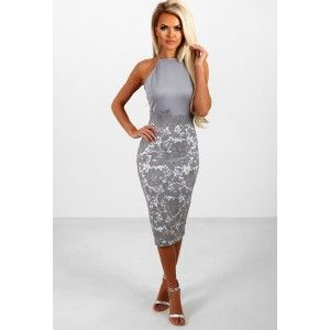 Polyester Elastane Underarm To Hem Measures Rox Model Is And Wears A Size Limited Stretch We All Crushing On This Grey Crochet Midi D