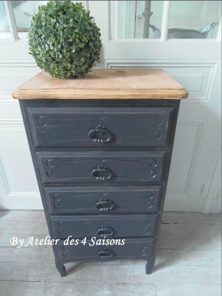 Repeindre un meuble en bois en noir design repeindre - Repeindre un meuble en bois en noir ...