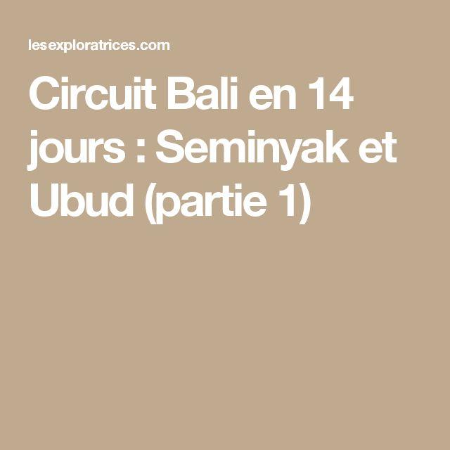 Circuit Bali en 14 jours : Seminyak et Ubud (partie 1)