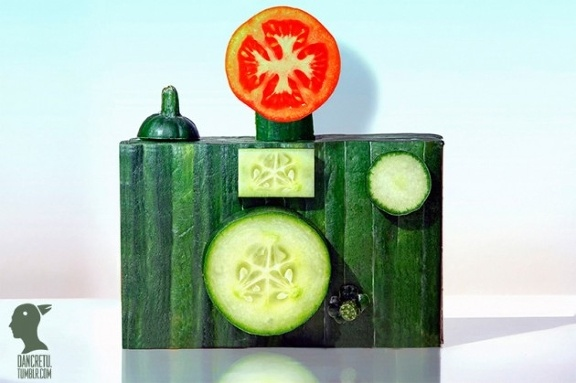 .Food Sculpture, Everyday Food, Creative Food, Dan Cretu, Dancretu, Foodart, Food Art, Fruit And Vegetables, Cameras