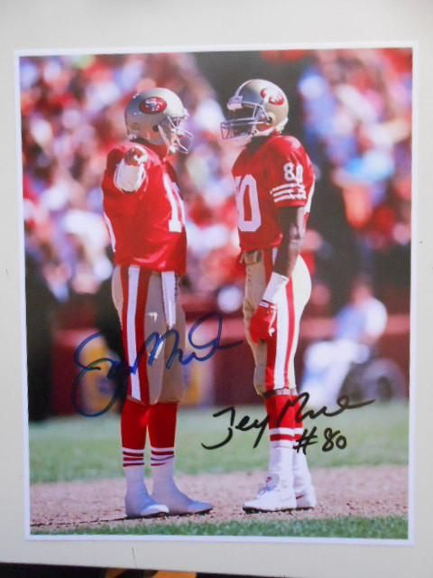 Joe Montana/Jerry Rice NFL rare autograph photo w/COA