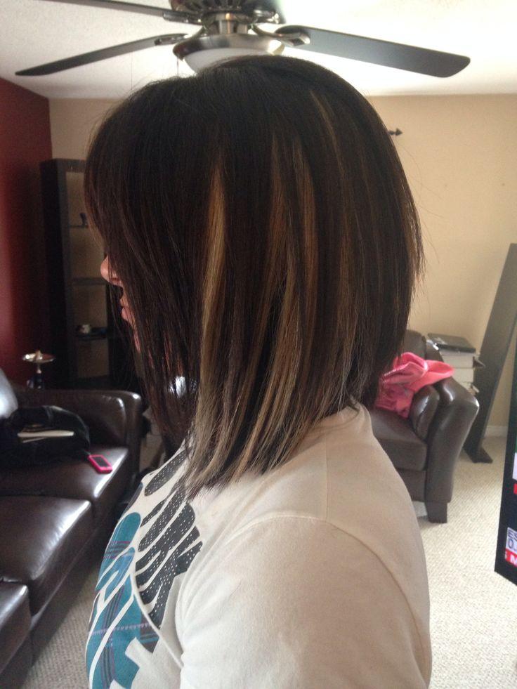 Black Hair With Peekaboo Brown Highlights How To Get Peekaboo Blue Hair
