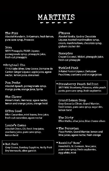 97 best images about cuisine spirits on pinterest pf for Bar food la menu