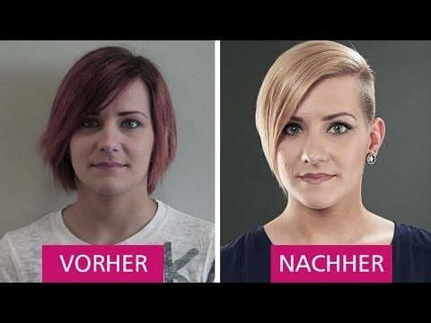 Frauen Frisuren Vorher Nachher Frisuren Pinterest