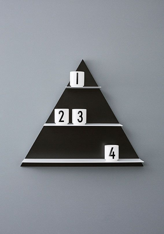 Turn Triangle Paper Shelf into a Christmas decoration in December with candle lights in our mini porcelain cups.