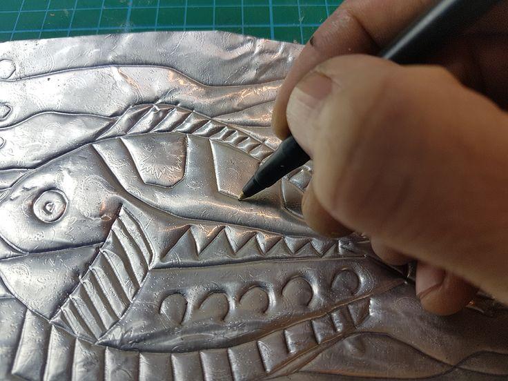 Aluminium Foil Printing by Paul Carney