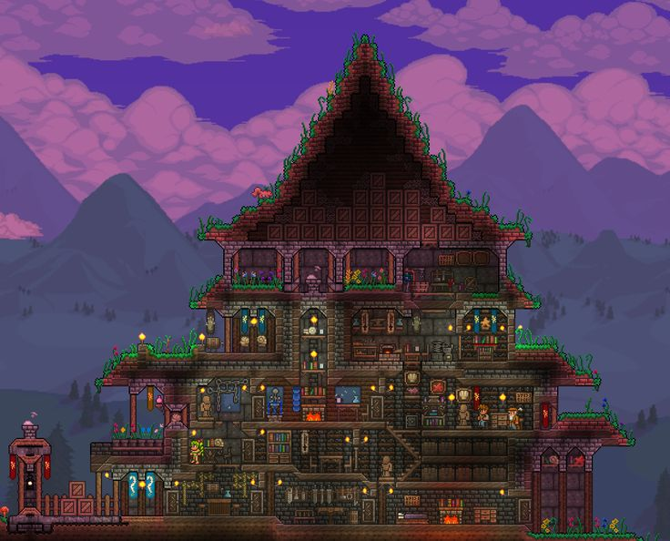 42 best terraria house ideas to build images on pinterest for Best house designs terraria
