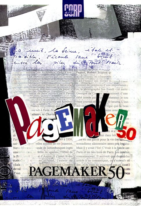 by Argiro Stavrakou, year 1996, Suggestion for the Pagemaker software cover