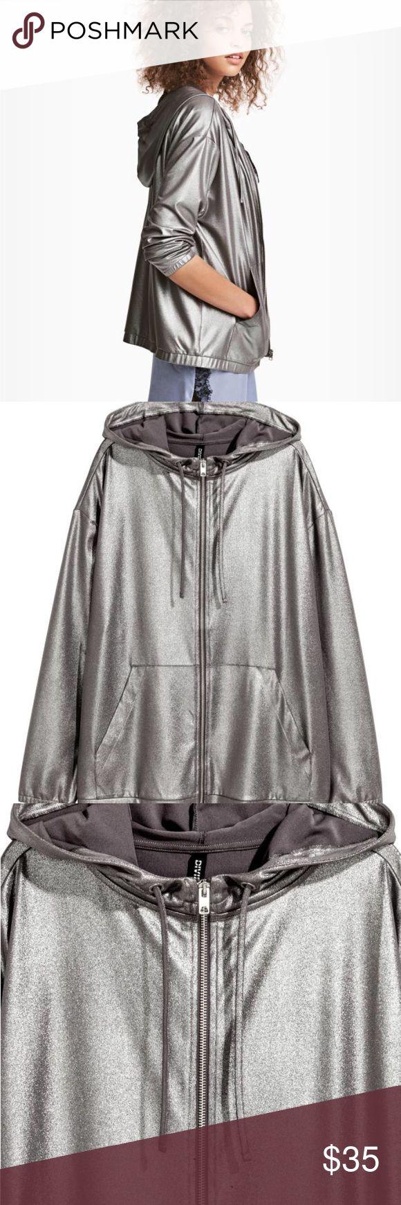 H&M metallic hoodie jacket Brand new. Light. Cool metallic color. Super comfy. H&M Jackets & Coats