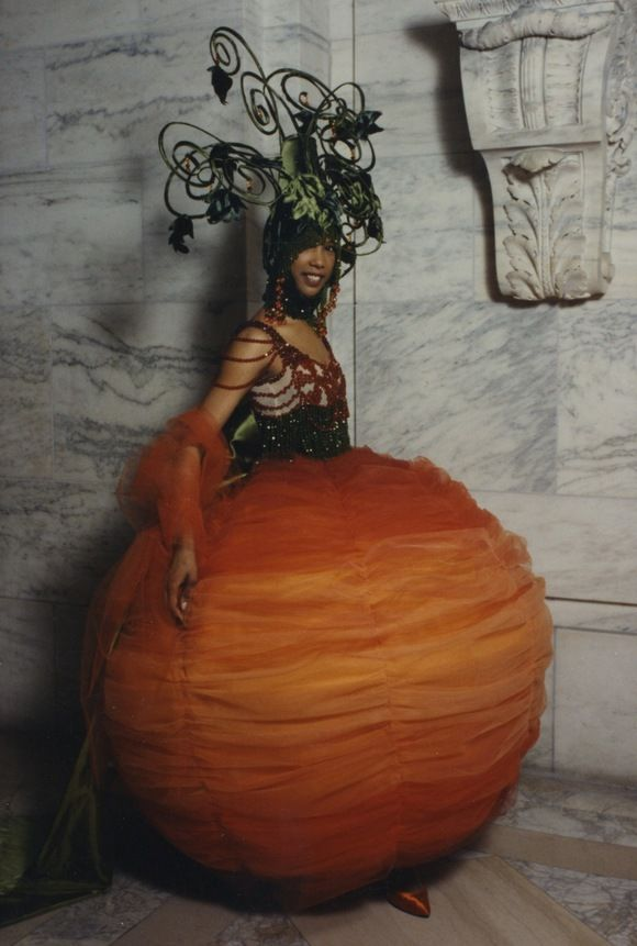 My Costume Senior year at Parsons. From the SPD Archives: Vegetable Costumes at SPD Gala 28, 1993