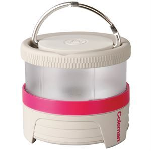 Coleman Lantern Li-lion Pucklit Pink 2000017070 Take this lantern anywhere with its collapsible design. Great for bringing on camping trips and packs away easily. The lantern is rechargeable so no need to go through hundreds of batteries. Features: - Down light with USB rechargeable lithium ion battery - Carabiner handle - Collapsible lantern - Small lantern with a powerful output