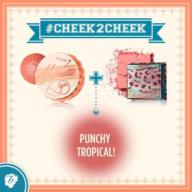 How about this coral-combo for a gorgeous tropical cheek! #cheek2cheek. Enhance any blush colour with majorette. xx