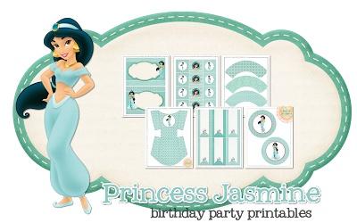 Princess Jasmine Party Printables. Free! http://www.peoniesandpoppyseeds.com/2013/03/princess-jasmine-party-printables.html