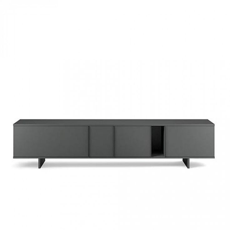 Modern minimalist design low sideboard/TV stand Ziggurat Grey by Orme
