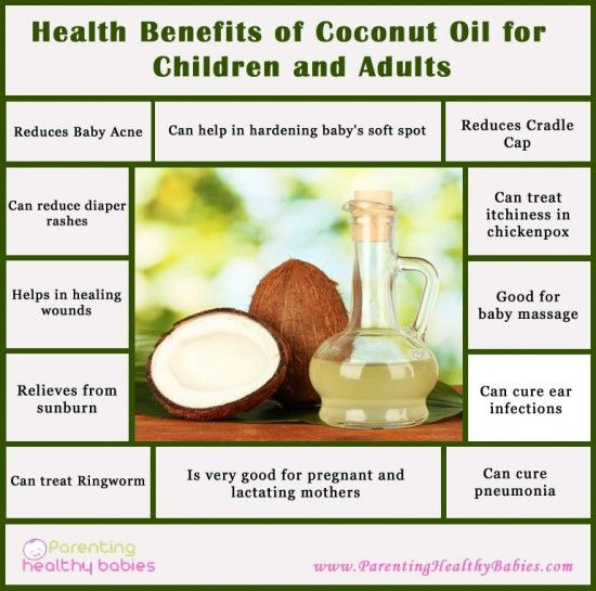Health Benefits of Coconut Oil for Babies and Adults