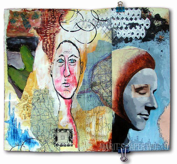 Fold, unfold, combine & integrate by Marit's Paper world Marit #artjournaling
