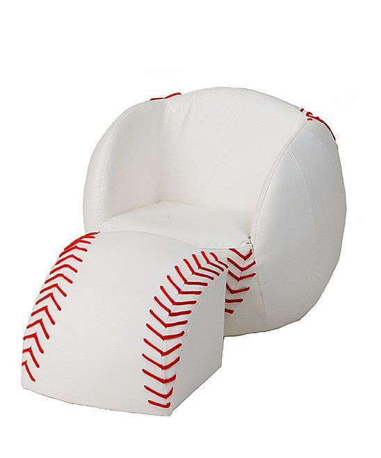Baseball Chair Ottoman For Kids.