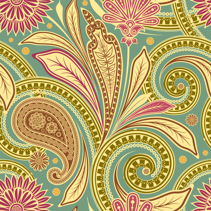 Beautiful background patterns vector free vector 4vector for Klebefolie retro