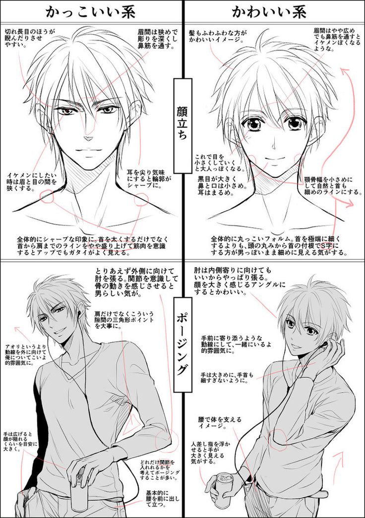 Let's face it, they can be 2D or real, but handsome men with proportionate faces…