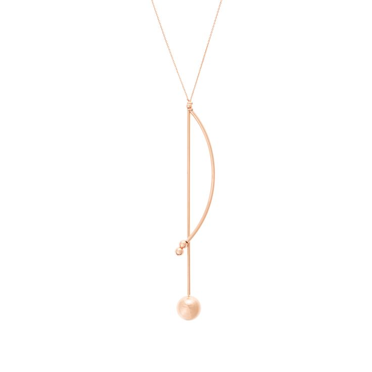 Buy the Calder Double Rod & Dot Pendant Necklace at Oliver Bonas. Enjoy free worldwide standard delivery for orders over £50.