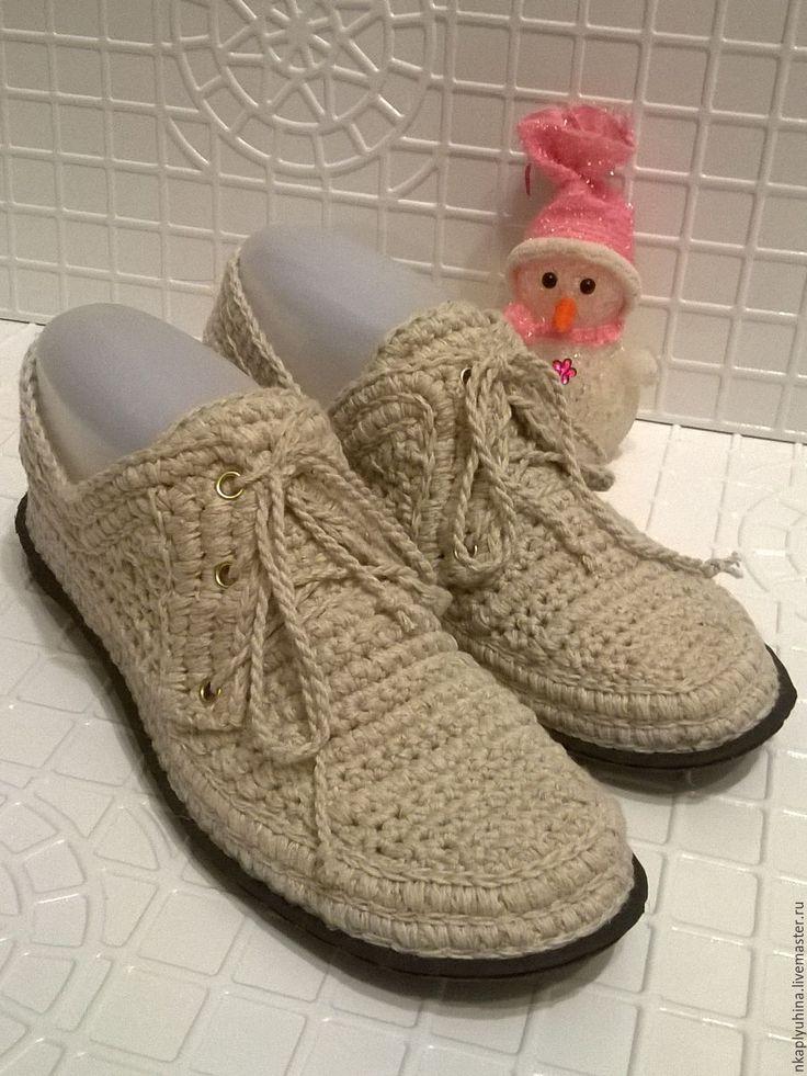 Купить Мокасины льняные - бежевый, мокасины женские, мокасины льняные, летние туфли, летняя обувь