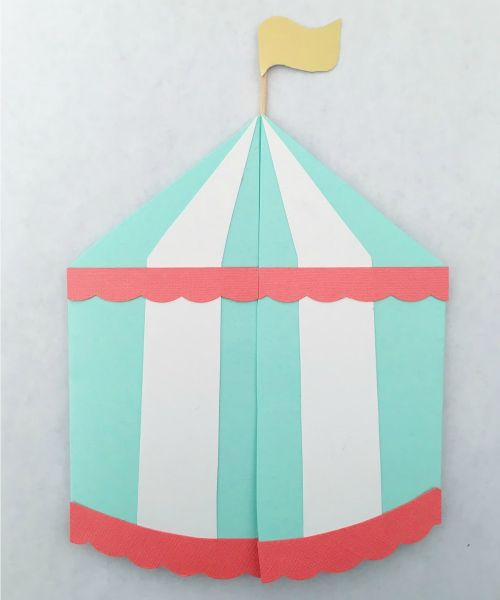 DIY in the Forest: Circus Tent Invitations
