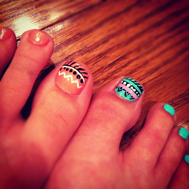 Tribal toes! Latest pedicure.