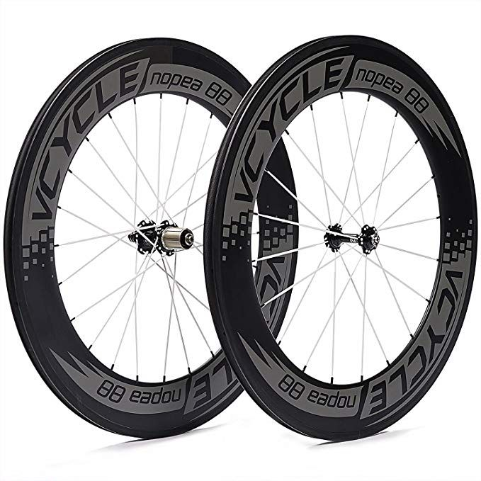 Vcycle Nopea 700c 88mm Carbon Road Bike Wheel Set Clincher For Shimano Or Sram 8 9 10 11 Speed Review Carbon Road Bike Bike Wheel Road Bike Wheels