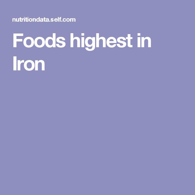 Foods highest in Iron