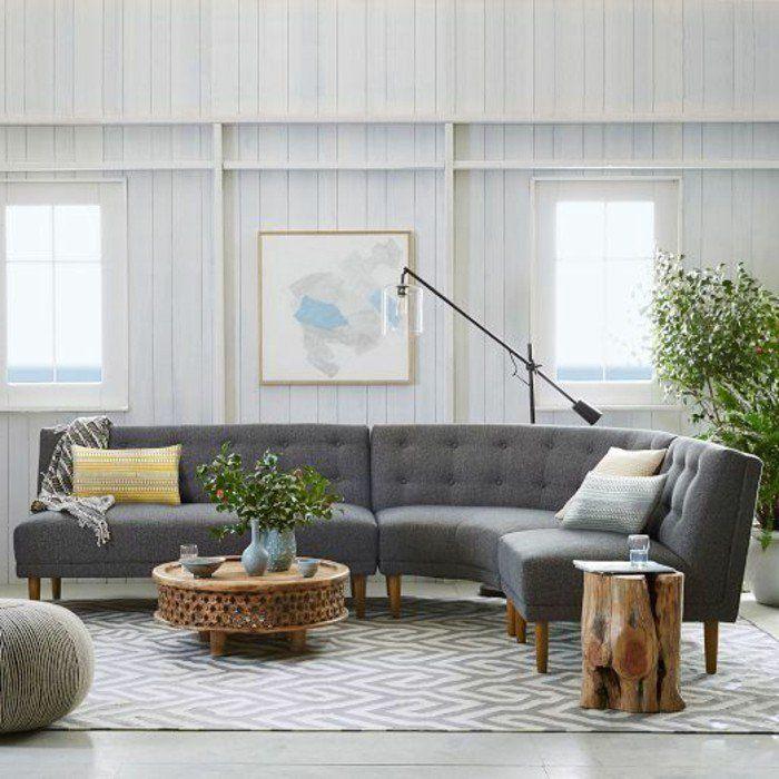 canape conforama gris dans le salon lampe de salon de lecture - Lampe De Salon