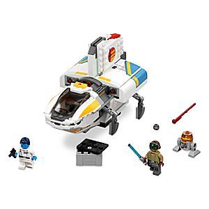 The Phantom Playset by LEGO - Star Wars | Disney Store Stay one step ahead of Admiral Thrawn with the Rebels' cool starship, The Phantom, featuring opening, detachable cockpit, retracting landing gear, spring-loaded shooters, opening rear compartment, two minifigures, and a droid.