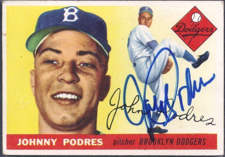 1955 Topps Johnny Podres autograph