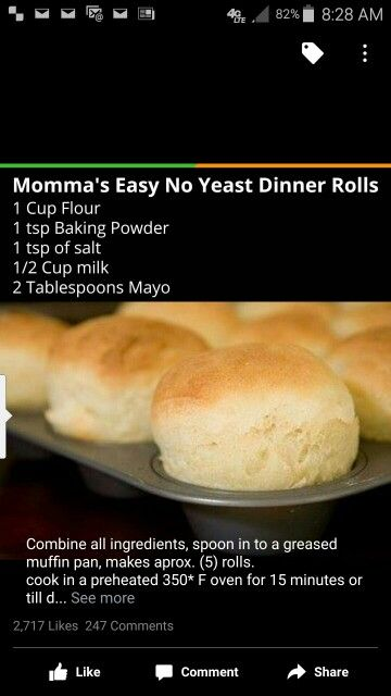 Home made rolls
