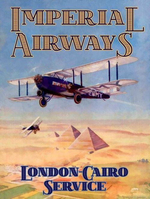 Imperial Airways linked the Empire before the outbreak of World War II, before being folded into BOAC.