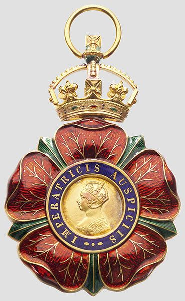 Order of the Indian Empire Collar Knight Grand Commander Badge surmounted by an imperial crown, 98 x 60 mm, Garrard & Co. LTD.