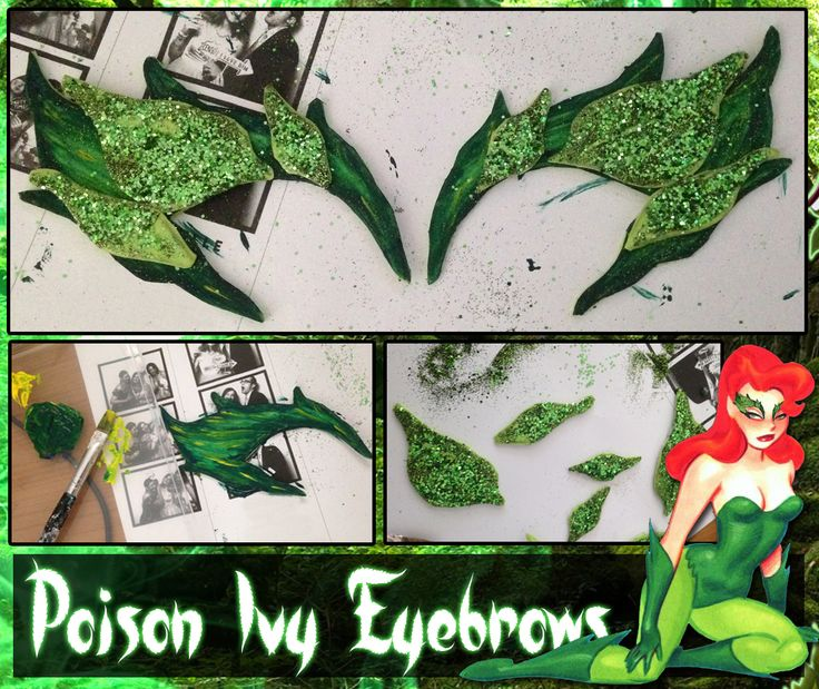 DIY: How to Make Poison Ivy Eyebrows