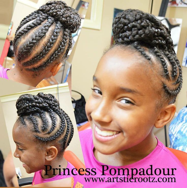 Natural Hair Cornrow Updo Hairstyles