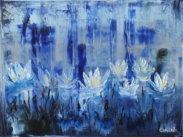Zu Zambakları Hd Canlı Renkler Çiçekler Soyut Yağlı Boya Abstract Kanvas Tablo | ARTTABLO