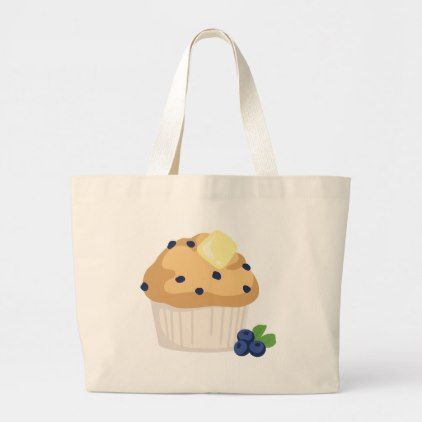 b23efcef62 Blueberry Muffin Large Tote Bag | Zazzle.com in 2019 | food gifts ...
