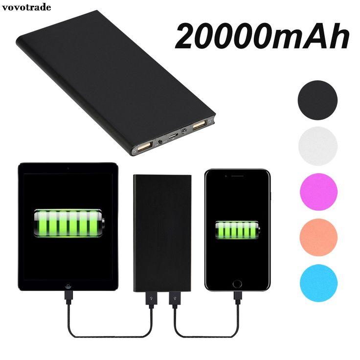 Vovotrade 20000 mAh Portátil USB Bateria Externa De Backup Pacote de Telefone Celular Portátil Carregador Banco Do Poder Para O Iphone Para Xiaomi